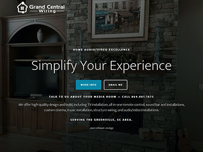 Screenshot of the old Grand Cental Wiring website.